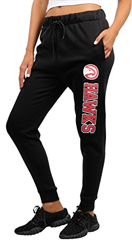 UNK NBA Women's Jogger Pants Active Basic Fleece Sweatpants, Black/Navy – DiZiSports Store