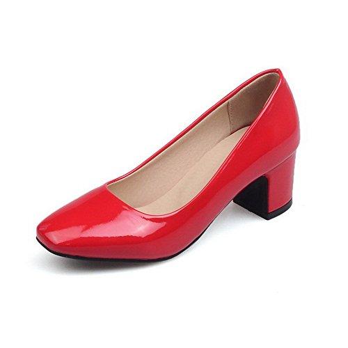 Verni Femme Carré Voguezone009 Chaussures Légeres Correct Couleur xqX6CI
