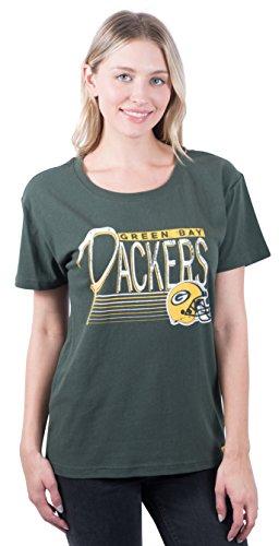 Icer Brands NFL Green Bay Packers Women s T-Shirt Scoop Neck Short Sleeve  Tee Shirt 2e2319a97