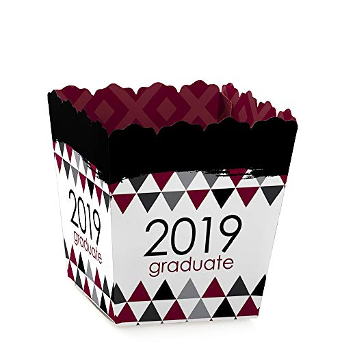 - Maroon Grad - Best is Yet to Come - Party Mini Favor Boxes - Burgundy 2019 Graduation Party Treat Candy Boxes - Set of 12