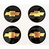 2.5In Wheel Center Hub Caps Covers Emblem Bowtie Logo Badge Decal for Chevy 4pcs