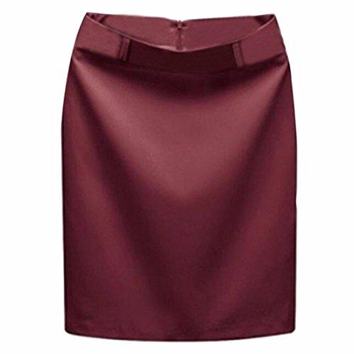 Hanche Paquet Une Courte Polyster Ligne Etape Jupe Midi La Jupe De rouge Femmes Costume vin Jupe Jupes RTFqHfH