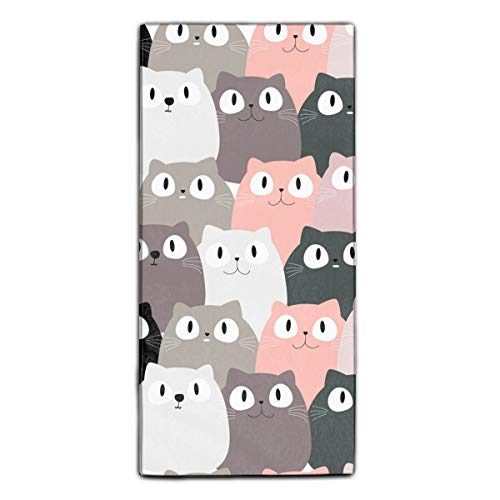 Cute Pink Cat Printed Kitchen Towels/Microfiber Cleaning Cloth/Tea Towels/Dish Rags,Multipurpose for Kitchen,Drawing Room,Bathroom and Car ()