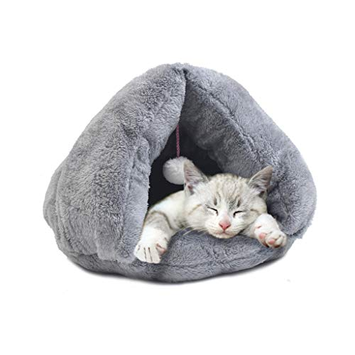 XBCWW Cama para Perros/Gatos, Saco De Dormir con Forma De Triángulo para Gatos Alfombra De Algodón para Mascotas Estera...
