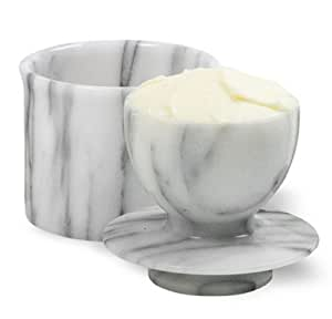 Norpro Butter Dish Crock Keeper Marble Hand Washing