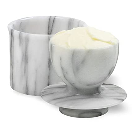 Norpro Butter Dish Crock Keeper Marble Hand Washing
