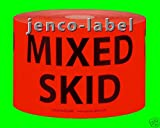 Jenco-Label HM3504R, 500 3x5 Mixed Skid Label/Sticker