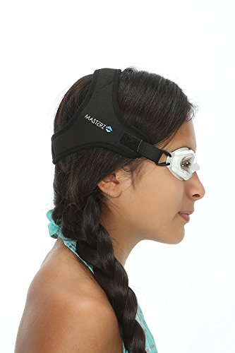 Masterz Swimming Goggles (Black, Clear)