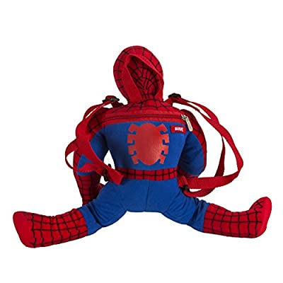 Fast Forward Little Boys' Spiderman Shaped Plush, Red, One Size   Kids' Backpacks