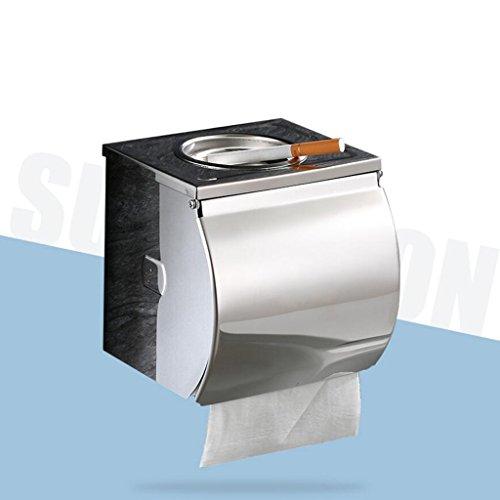 Ceniceros Cuarto de baño con el Caja de Papel higiénico del Acero Inoxidable Caja de Papel higiénico Bandeja de tocador...