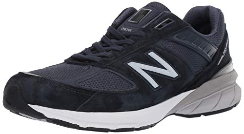 New Balance Men's 990v5 Sneaker, Navy/Silver, 13 N - Mens Sneakers Silver