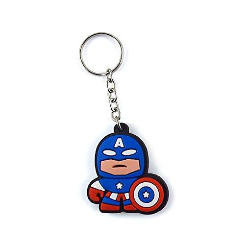Chaveiro Emborrachado Cute Capitão América