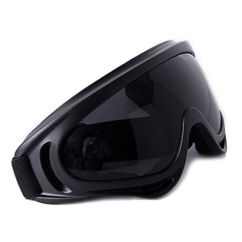 Luckystone Outdoor Snowmobiling Ski / Snow Goggles - Fog Resistant (Black)