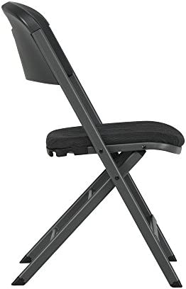 LIFETIME 480621 Commercial Grade Folding Chairs, 4 Pack, Charcoal Gray