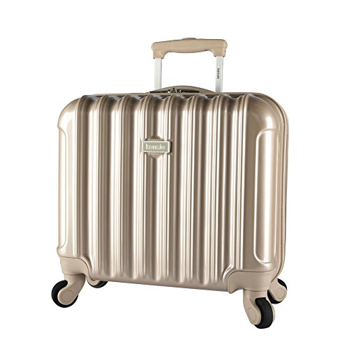 Stylish Rolling Briefcase (kensie Light Metallic Design 17
