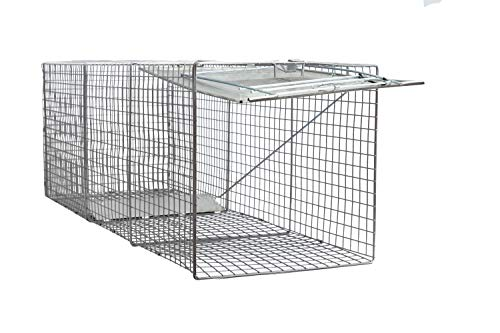 - Large One Door Catch Release Heavy Duty Cage Live Animal Trap for Dogs, Foxes, Badgers, Coyotes, and Other Similar Sized Animals, 42