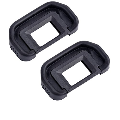 Eggsnow (2-Pack) Canon EB Replacement Eyepiece Eyecup for CANON EOS 5D Mark II 5D 6D 70D 60D 60Da 50D 40D
