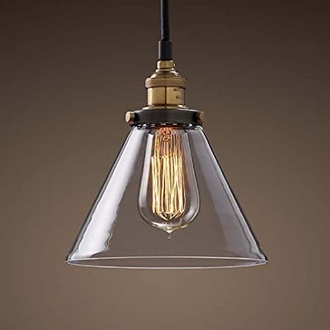 Ohr lighting edison simple glass shade hanging funnel vintage ohr lighting edison simple glass shade hanging funnel vintage pendant light fixture e26 socket clear aloadofball Choice Image