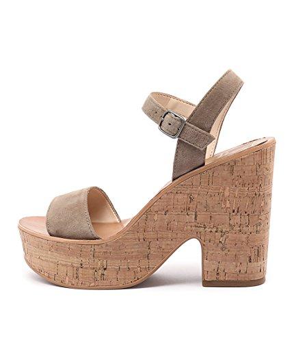 DOLCE VITA Randi Tan Womens Shoes High Heels Sandals LATTE SUEDE