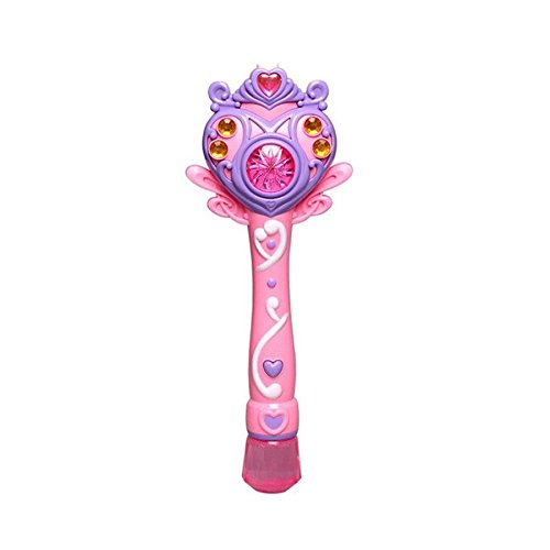 Princess Bubble Wand (Princess Stick Toy Electronic Automatic Bubble Maker Machine Toy Outdoor Bubbles Gun Toy W/ Light Music Pink Color)