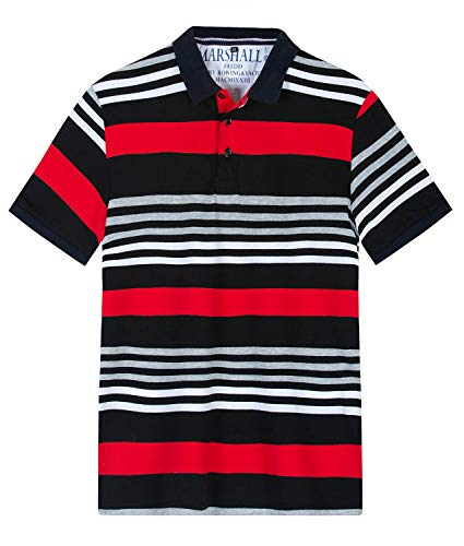 - FRTCV Mens Polo Shirt Short Sleeve Casual Fit Rugby Golf T-Shirts 041 Red Tag XL/US L