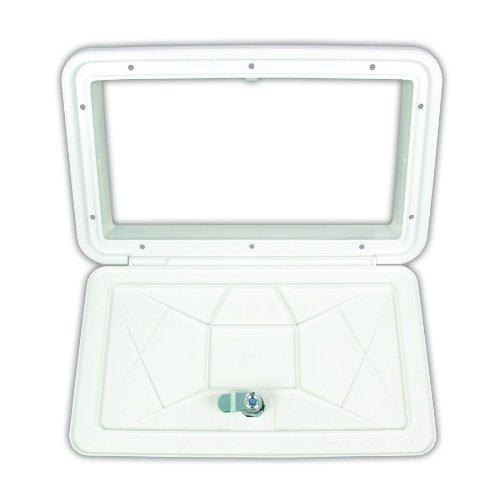 (JR Products ZE102-A Polar White Large Key Lock Multi-Purpose Access Hatch)