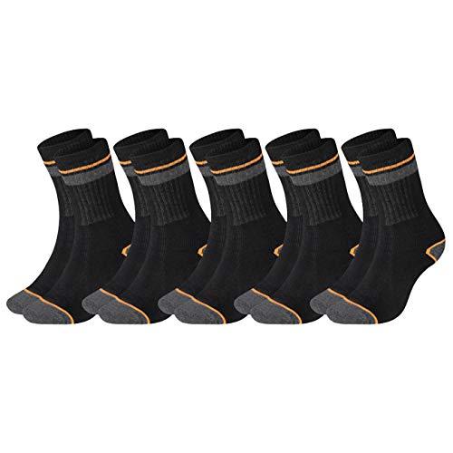 Black+Decker Herensokken Heavy Fabric Crew 5-pack Unisex Work Sport werksokken 39-42 43-46 47-49 50-52 versterkt katoen…