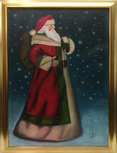 Babbo Natale Originale.Quadro Di Babbo Natale Al Polo Nord Idea Regalo Originale Per