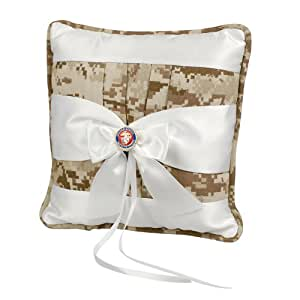 Jamie Lynn Digital Military Collection, Ring Pillow, Tan, Marines