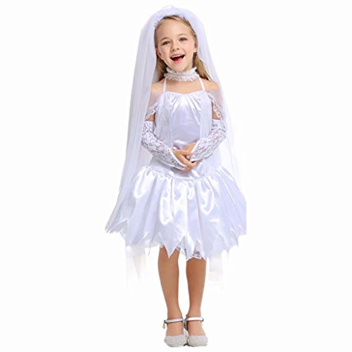 Girls Ghost bride Halloween Cosplay Costume Wedding Party Dress by Tsyllyp (Image #1)