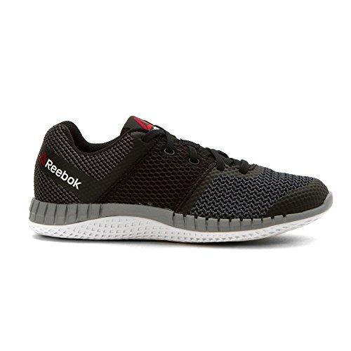 Reebok Kids Boy's Zprint Run (Little Kid/Big Kid) Black/Gravel/Tin Grey/Black Reflective/White Athletic Shoe