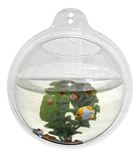 Abyss Pets Wall Mounted Hanging Fish Bowl Aquarium Tank for Gold Fish and Beta Fish, -