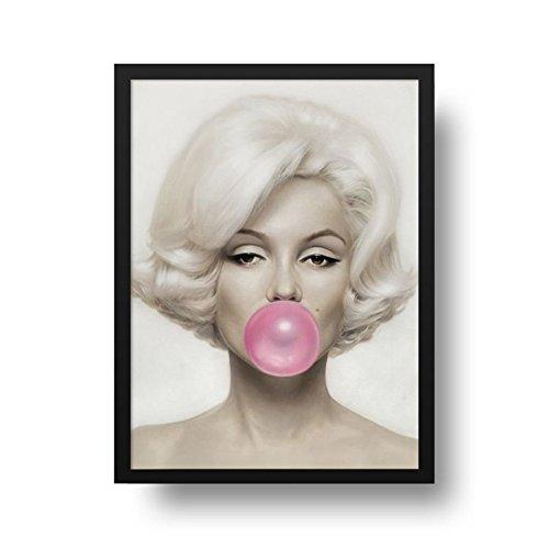 Poster Marilyn Monroe - Molura Preta - 50 x 70 cm