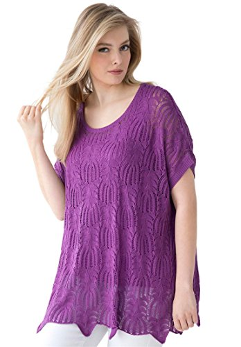 Jessica-London-Womens-Plus-Size-Relaxed-Fit-Pointelle-Sweater