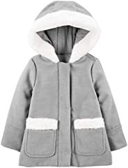 Simple Joys by Carter's Toddler Girls' Hooded Felt Jacket with Faux