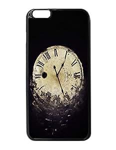 Clock Time Durable Unique Design Hard Back Case Cover For iPhone 6 Plus - 5.5
