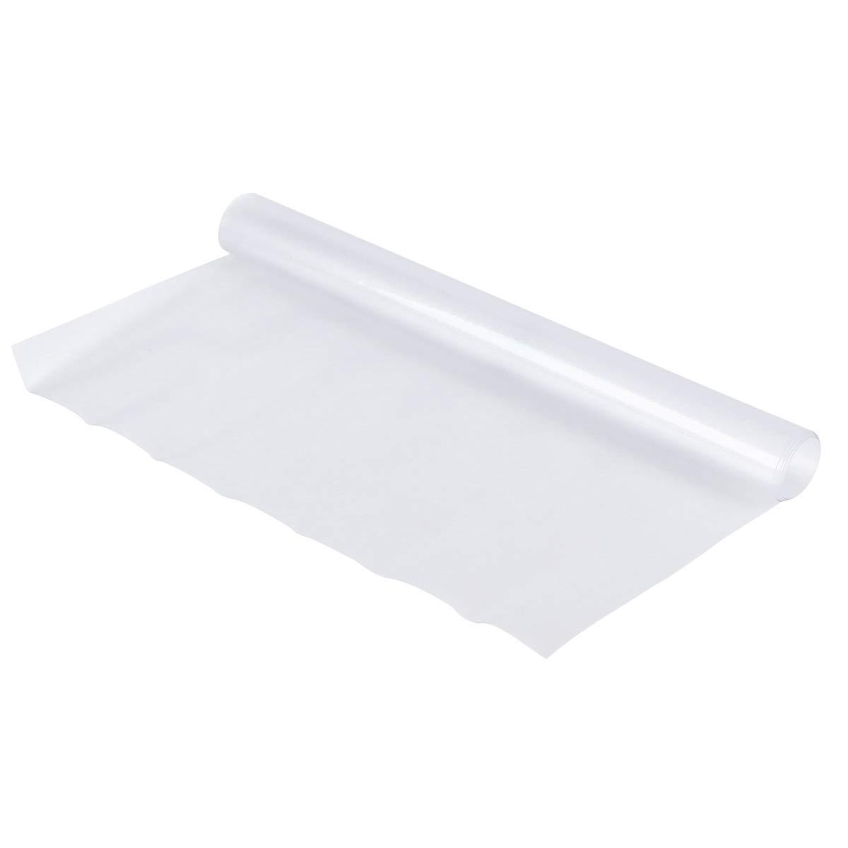 BESTONZON 1 Pc napperon Anti-dérapant Lavable Tapis de Table PVC résistant à l'usure résistant à la Chaleur napperons Dirt-Repellent napperons de Table de Cuisine - 60x40x0.1cm (Type givré)