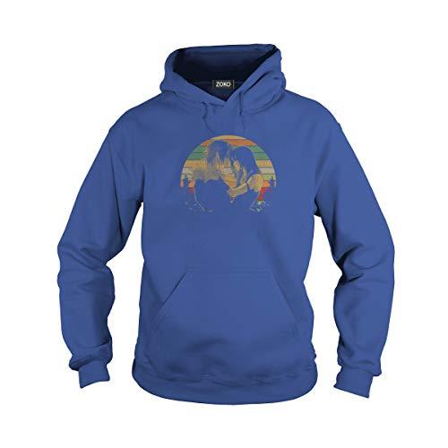 (Unisex Final Vintage Adult Hooded Sweatshirt (3XL, Royal Blue))
