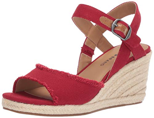 Buy red canvas sandals
