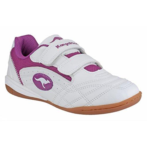 KangaROOS Backyard Mädchen Sneakers Weiß/Fuchsia