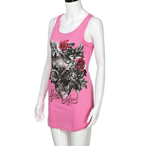 Chic Rose Casual Club Skull Squelette Femme Shirt Imprimer Femme Tops Grande Taille T Chic Party Soiree Chemise Chemise Dbardeurs Challeng Femmes Femme Chemise Blouse gwO0U
