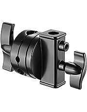 Neewer Cabeza Giratoria Titular Adaptador de Montaje Multifunctional de 2,5 Pulgadas para Soporte de luz, Brazo de extensión y Otro Equipo con Montura 1/2, 1/4, 3/8, 5/8 Pulgada(Negro)