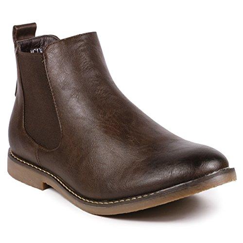 Brown Chelsea Boot - Metrocharm MC124 Men's Formal Dress Casual Ankle Chelsea Boot (12, Brown)