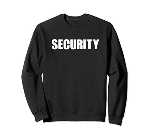 Unisex Security Guard Officer Uniform Shirt Two Side Sweatshirt XL: Black (Ring Bearer Watch)