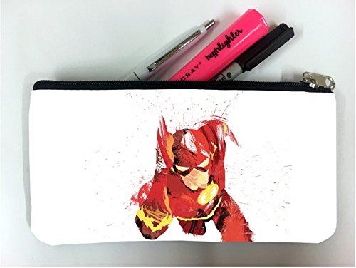 - Comic Book Hero Watercolor Design Student Pen Pencil Case Coin Purse Pouch Cosmetic Makeup Bag