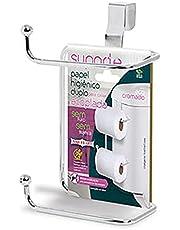Suporte Duplo Porta Papel Higiênico Caixa Descarga Acoplada Privada Vaso Sanitário Decoração Banheiro Envio 24 horas