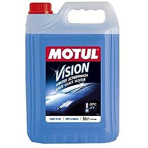 Bidon de lave glace hiver Motul Vision -20° par 5L prêt à l'emploi auto voiture