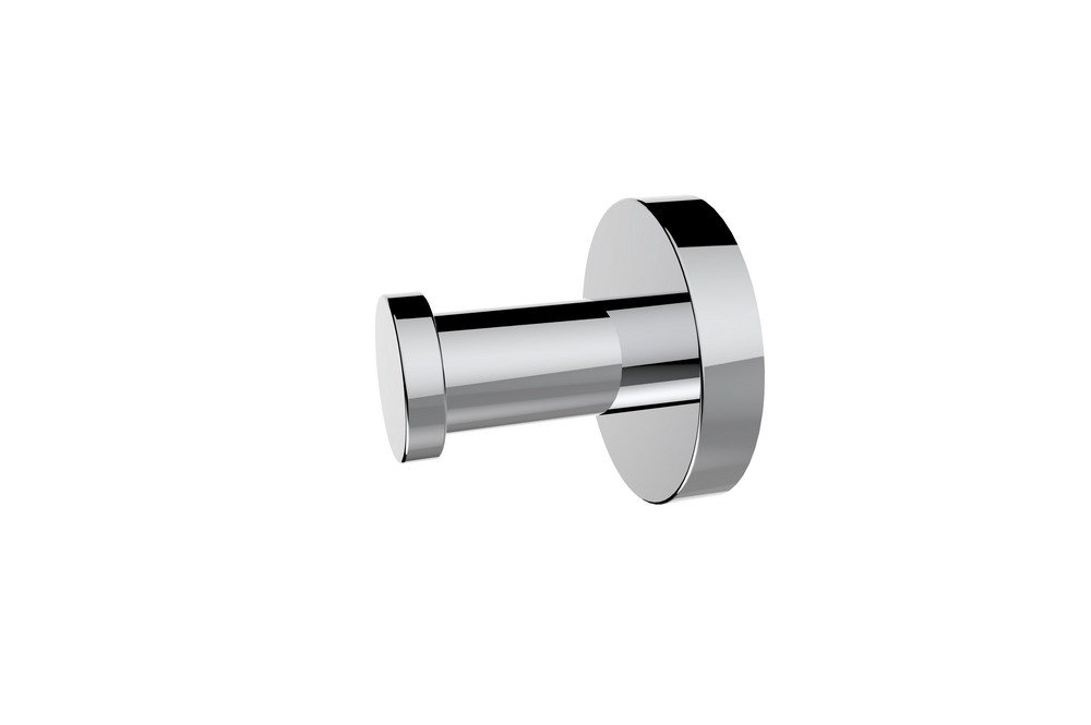 LS Brass Single Coat Hook Towel Robe Clothes Hook for Bathroom Kitchen Modern Hotel Style Wall Mounted, Chrome finish