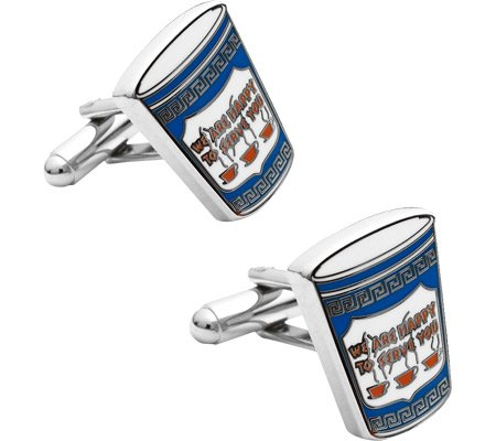 Cufflinks Inc Men's Greek Coffee Cufflinks