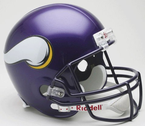 Riddell NFL Minnesota Vikings 2006-2012 Throwback Replica Vsr4 Full Size Football Helmet